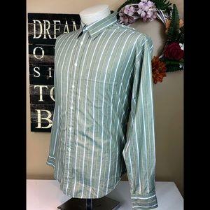 YSL Yves Saint Laurent Green Dress Shirt 17.5 34